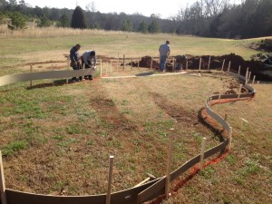 laying out pool in Forsyth, GA