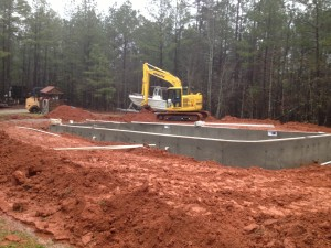 Walls Poured And Forms Down